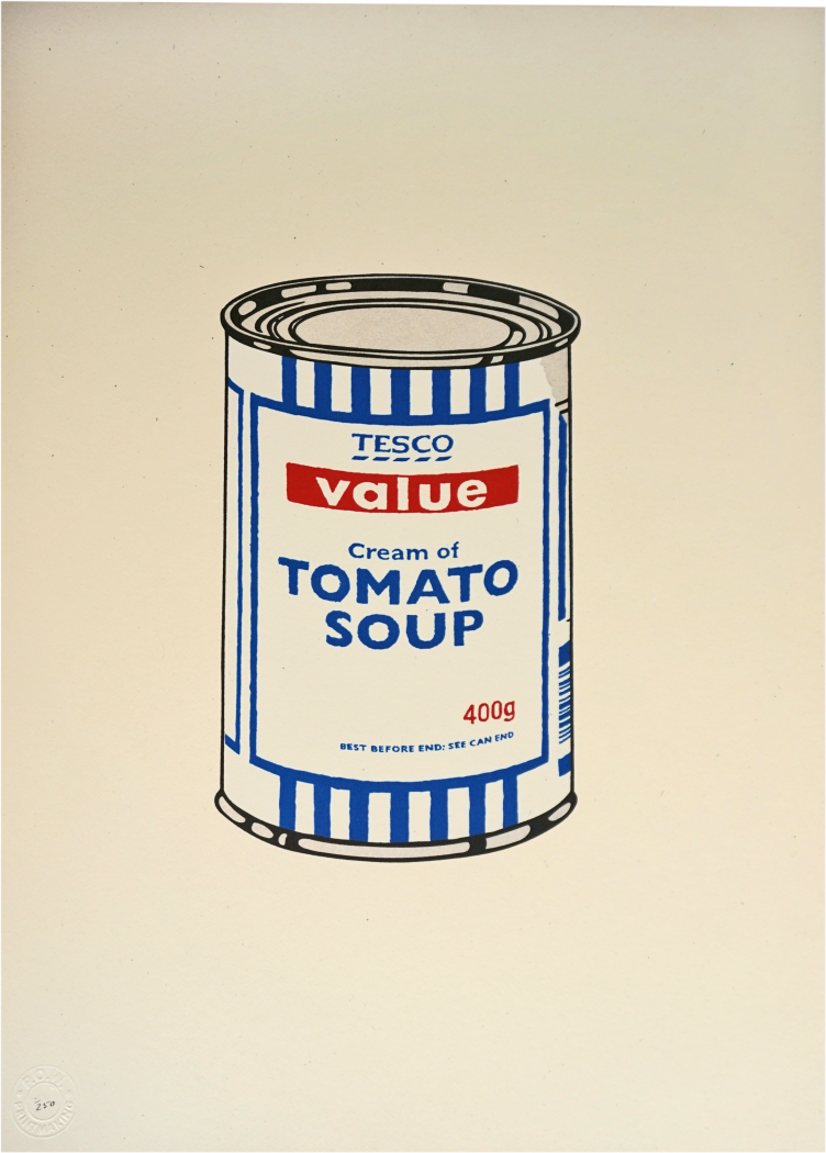 Banksy, Soup Can (Original), 2005