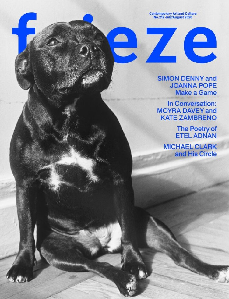 Frieze Magazine Issue 212 Cover