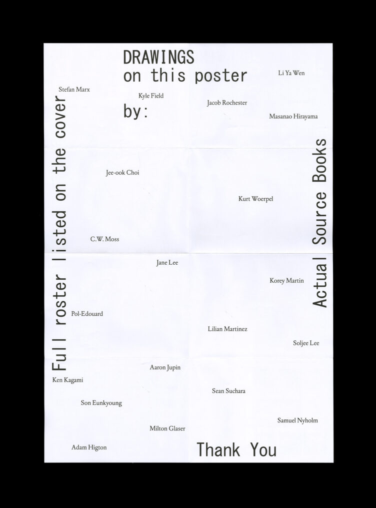 Shoplifters Issue 9: Drawings Poster Back