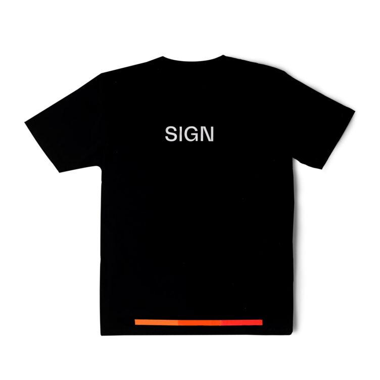 Autechre SIGN Black T-shirt Back