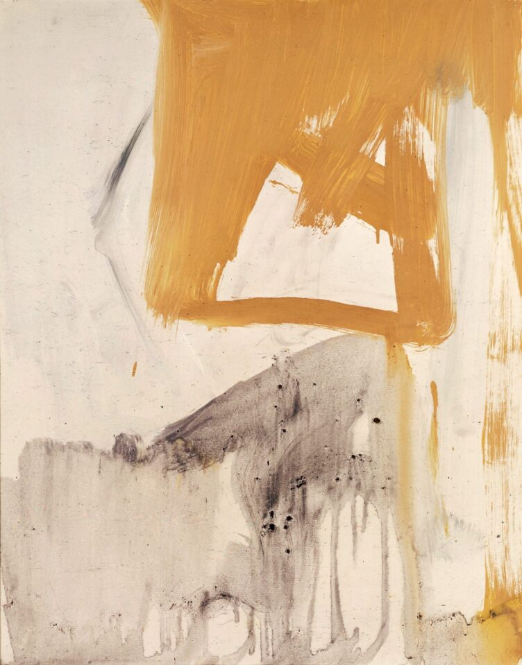 Franz Kline, Ochre and Grey Composition, 1955