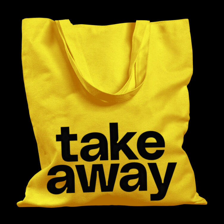 Take Away Tote Bag by Filippos Fragkogiannis