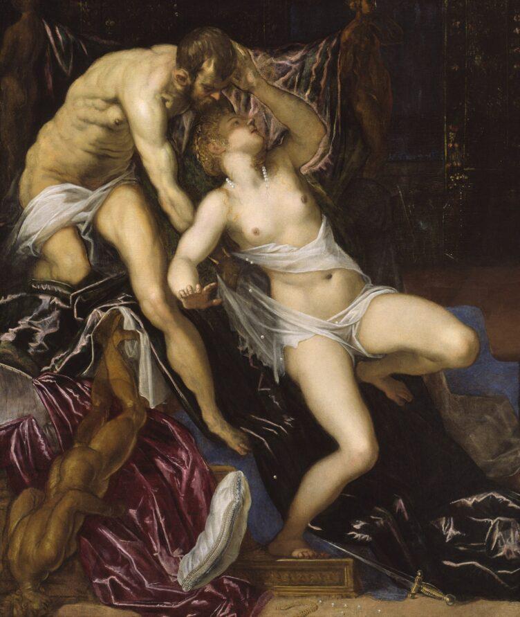 Tarquin and Lucretia, Tintoretto, c. 1578/80