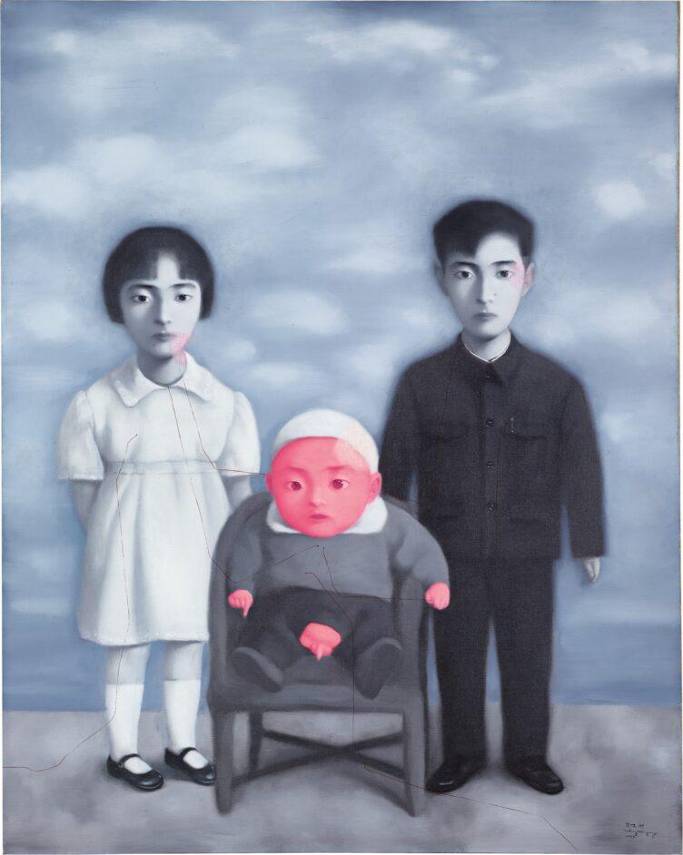 Zhang Xiaogang, Bloodline-Big Family: Family Portrait, 1998