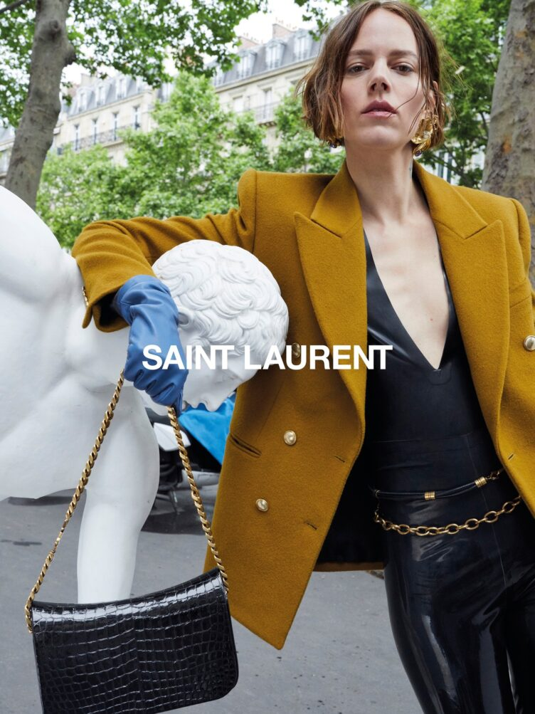 Freja Beha Erichsen for Saint Laurent Winter 2020