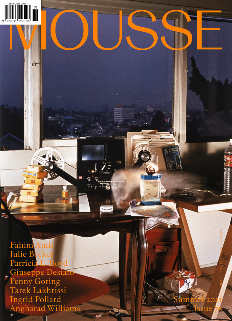 Mousse Magazine, Issue #76, Summer 2021 Cover
