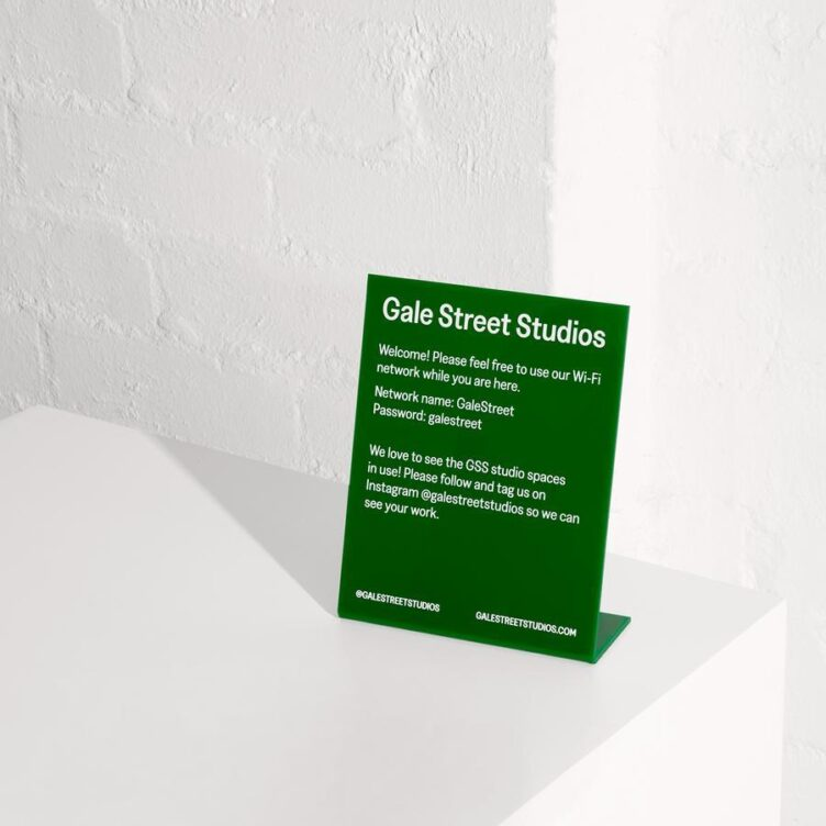 Gale Street Studios Small Sign