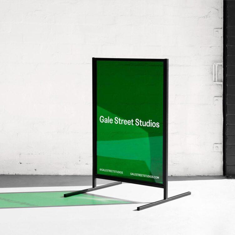Gale Street Studios Sidewalk Sign